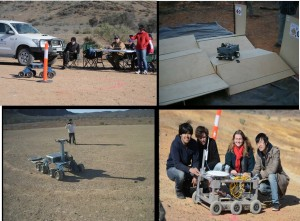 Four of the events at the Arkaroola Robot Challenge, July 2014